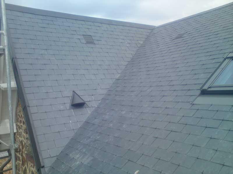 Un toit qui a été réalisé par l'entreprise de couverture